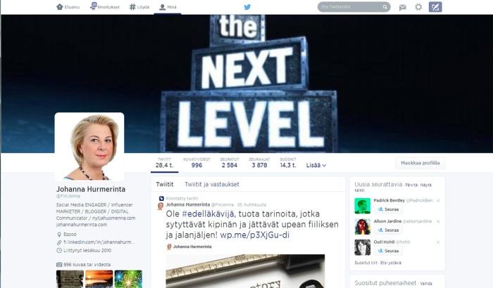 JH Twitterprofiili 2014