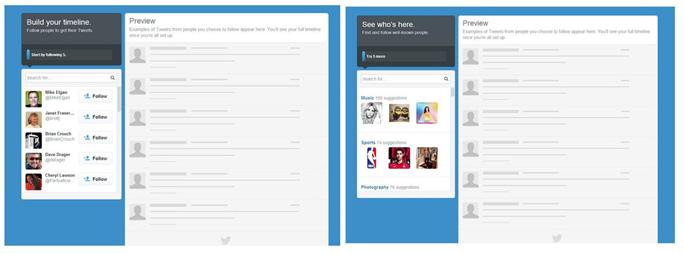Uusi twitter design ja aloitus