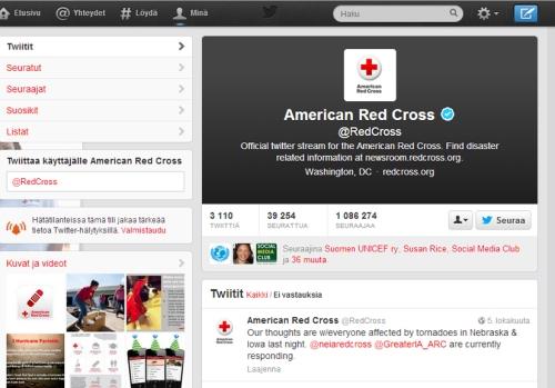 American red cross twittertili
