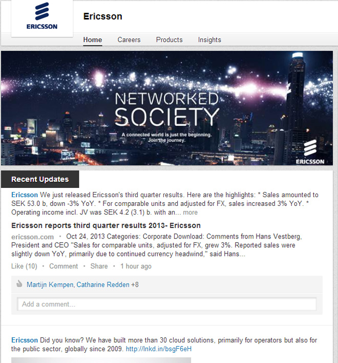 LI Ericsson page