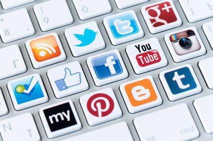 Socila media keyboard