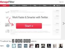 ManageFlitter Start Page