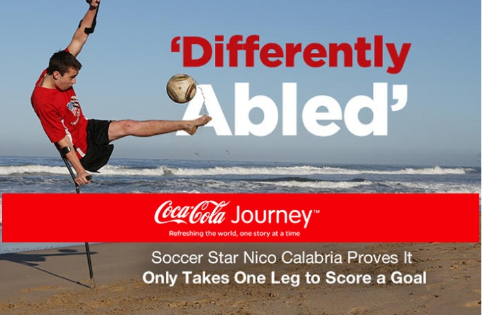 Differently abled Coca Cola