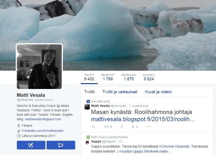 M Vesala_Twitter profiili