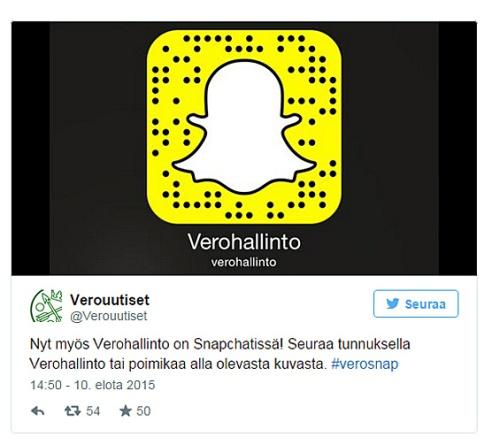 Verohallinto Snapchat