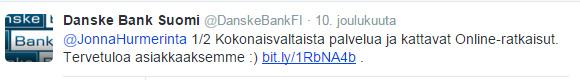 Danskebank twiitti