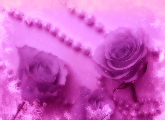 Pink Roses And Pearls Breast Cancer Awareness Art.jpg