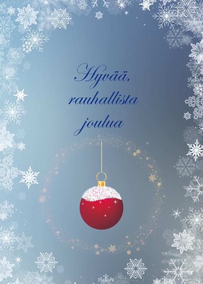 Kaunis Joulutervehdys Sininen Teema.jpg